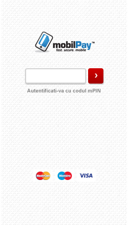 Screenshot mPin Screen mobilPay Wallet