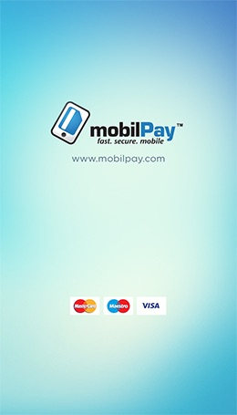 Screenshot Splash Screen mobilPay Wallet